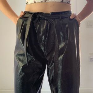 Who What Wear patent leather trouser